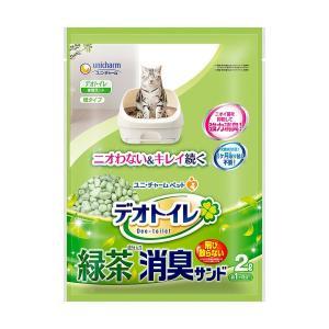 猫用トイレユニ・チャーム 1週間消臭・抗菌デオトイレ専用飛散らない 緑茶成分入り・消臭サンド2L|hc7