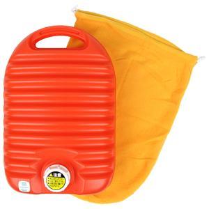 アンシン湯タンポ(袋付) 3.6L オレンジ 協越化学  [生活雑貨 暖房]|hc7