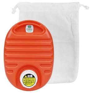 カワイイミニ湯タンポ(袋付) 750cc オレンジ 協越化学  [生活雑貨 暖房]|hc7