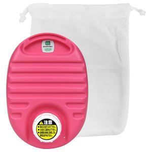 カワイイミニ湯タンポ(袋付) 750cc ピンク 協越化学  [生活雑貨 暖房]|hc7