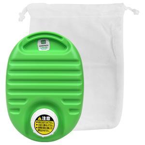 カワイイミニ湯タンポ(袋付) 750cc グリーン 協越化学  [生活雑貨 暖房]|hc7