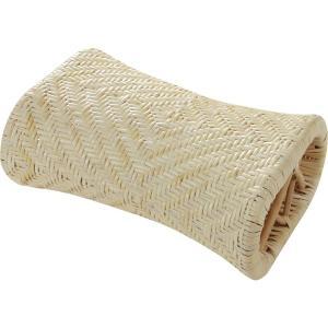 籐枕 籐アジロ  約30x20x12cm  大島屋 まくら マクラ 籐|hc7