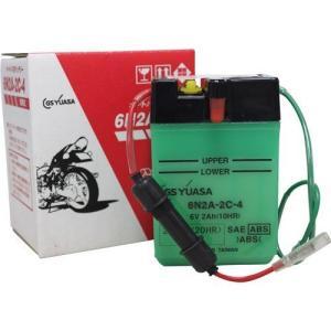バイク用バッテリー 解放式 6N2A-2C-4 ジーエス・ユアサ [6N2A2C4 バッテリー液別(液同梱) オートバイ gsユアサ]|hc7
