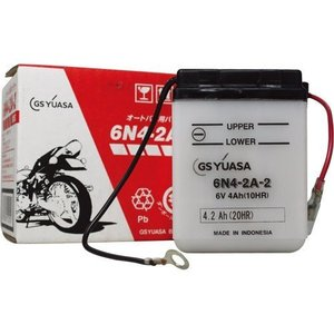 バイク用バッテリー 解放式 6N4-2A-2 ジーエス・ユアサ [6N42A2 バッテリー液別(液同梱) オートバイ gsユアサ]|hc7