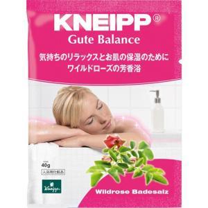 クナイプ グーテバランス バスソルト ワイルドローズの香り (40g) クナイプ [KNEIPP 入浴剤 癒し スパ用品 アロマバス]|hc7