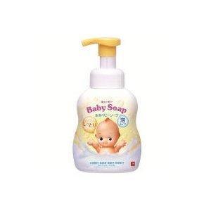 牛乳石鹸共進社 牛乳石鹸 キューピー しっとり全身ベビーソープ 泡タイプ ポンプ付 400ml|hc7