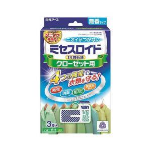 ミセスロイド クローゼット用 1年防虫 3個入 白元アース earth [虫よけ 防虫剤 衣類用]|hc7