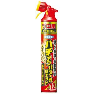 ハチ・アブバズーカジェット 800ml フマキラー FUMAKILLA [虫よけ 殺虫剤 殺虫剤スプレー]|hc7