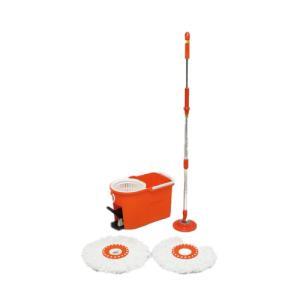 アイリスオーヤマ 回転モップ洗浄機能付き オレンジ KMO-490S|hc7