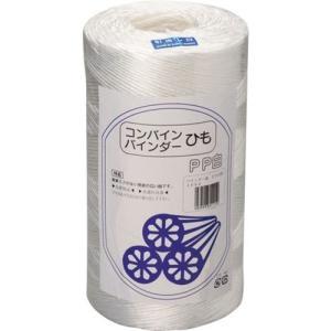 PPバインダー紐・白(ケース販売6本入り)  [白バインダー ヒモ ひも バインダーやコンバインで藁の結束用紐 誘引用紐 梱包用]|hc7
