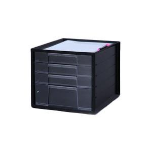 アイリスオーヤマ レターケース ブラック LCJ-4D|hc7