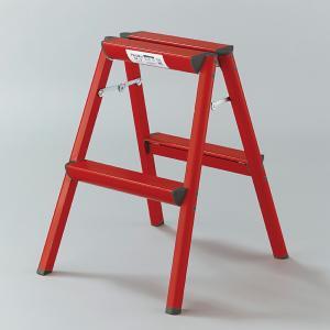 アルミカラー踏み台 レッド SE-6R[se06 red RED 脚立 室内用 店舗 家庭用 アルミ 梯子 ハセガワ 長谷川 はせがわ 作業台 踏台 立馬]|hc7