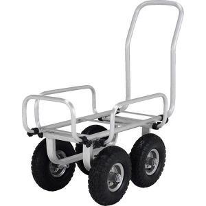 アルミ製伸縮ハスカー(エアータイヤ) SKK-051PA アルインコ 台車 運搬 運搬台車 作業台車|hc7