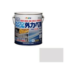 水性シリコンアクリル外カベ用 3kg ソフトグレー アサヒペン [水性塗料 外カベ 外壁 外壁水性塗料 塗装用品 塗装塗料]|hc7