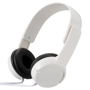 AudioComm ステレオヘッドホンH125 ホワイト [品番]03-2280 HP-H125N-...