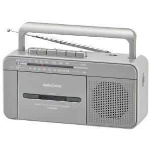 AudioComm ポータブルラジオカセットレコーダー [品番]07-8923 RCS-M930R ...