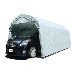 パイプ車庫 一式 3256U-GR(グレイユー) 大型BOX車用 埋め込み式 3256UGR   (メーカー直送:代引き不可)|hc7