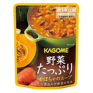 カゴメ 【備蓄用】 野菜たっぷりかぼちゃのスープ 160g×30袋 (1ケース) 1ケース 送料無料|hc7