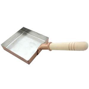 中村銅器製作所 銅製 卵焼き鍋 角型 15cm|hc7