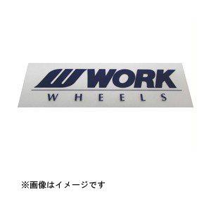 WORK ワーク ミニステッカー 90mm ブルー WORK [シール デコレーション]|hc7