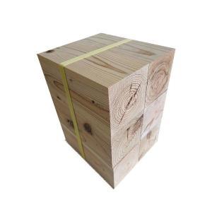 杉ブロック 直方体 90mm×90mm×200mm 6個セット  織田商事 杉 天然杉 木材 ブロック ブロック材 工作 DIY 角材 ウッドブロック 端材 木端|hc7