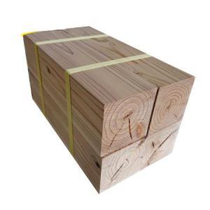 杉ブロック 直方体 90mm×90mm×300mm 4個セット  織田商事 杉 天然杉 木材 ブロック ブロック材 工作 DIY 角材 ウッドブロック 端材 木端|hc7