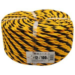 ユタカ 軽量 標識ロープ Y12#-100 #12mm×100m (宅配便配送のみ)|hcbrico