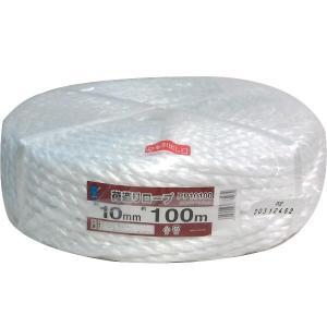 豊島吉貞商店 荷造りロープ PP10100 PPロープ 10mm×100m 白