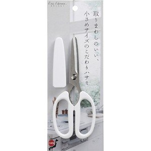 (メール便可)貝印 ミドル キッチン鋏 白 DH-7159|hcbrico