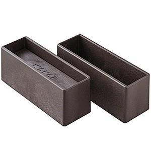 WAKAI ツーバイシックス材 2×6材専用 ディアウォールS ダークブラウン(濃茶)上下パッドセット DWS26DB|hcbrico