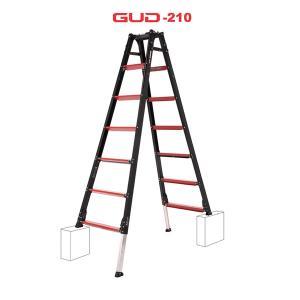 【送料無料】【直送】アルインコ GAUDI ガウディ 上部操作型 伸縮脚付きはしご兼用脚立 210c...