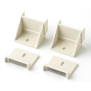 タカショー ウッディープラ柱用金具 ホワイト MNO-K04W|hcbrico