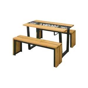 (送料無料)(メーカー直送)タカショー リバティ ピクニックテーブルセット ベジトラグ VGT-F01S3|hcbrico