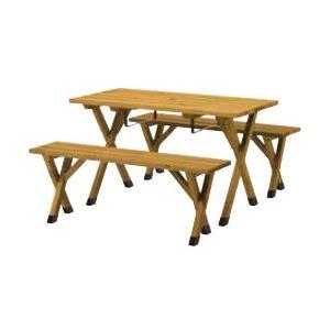(送料無料)(メーカー直送)タカショー サーモウッド BBQピクニックテーブルセット GWD-WEF270|hcbrico