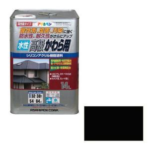 アサヒペン 水性高級かわら用 スレートブラック 14L [Tools& Hardware]