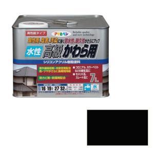 アサヒペン 水性高級かわら用 スレートブラック 7L [Tools& Hardware]