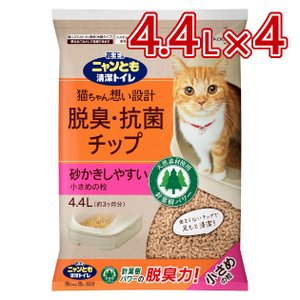 花王 Kao ニャンとも清潔トイレ チップ にゃんとも 砂 小さめ 4.4L ×4袋 大容量 17....