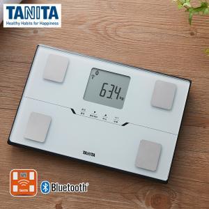 タニタ 体重計 体組成計 スマホ連動 BC-768-WH パールホワイト 白 コンパクト 薄型 アプリ 対応 bluetooth 健康管理 体重 体脂肪計 見やすい TANITA|ホームセンターバローPayPayモール店