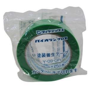 ダイヤテックス パイオランクロス養生用テープ 緑 38mm×25m【4967529563026:15...