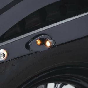 【商品番号】2578  【商品説明】 このカバープレートを使用するとハーレーのリヤウインカー部に小型...