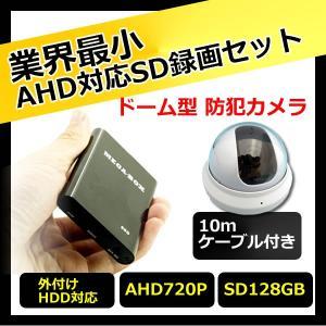 SD録画対応 130万画素ドーム型 防犯カメラ セット CK-MB01 Dセット|hdc
