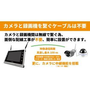 防犯カメラ ワイヤレス 屋外 家庭用 屋内  WiFi 防犯カメラセット 監視カメラ CK-NVR9105|hdc|04