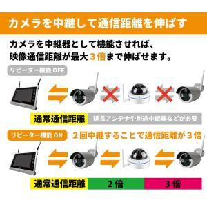 防犯カメラ ワイヤレス 屋外 家庭用 屋内  WiFi 防犯カメラセット 監視カメラ CK-NVR9105|hdc|05