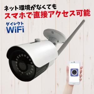 防犯カメラ SDカード録画 屋外 監視カメラ スマホで見れる ワイヤレス通信 WiFi リアルタイム監視 ダイレクトWiFi CK-700WF|hdc