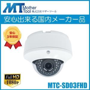 防犯カメラ ドーム 屋内用 SDカード録画  赤外線 暗視カメラ  MTC-SD03DIR hdc