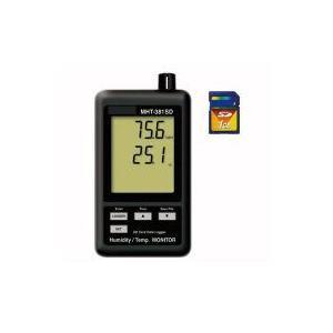 デジタル温湿度SDカードモニター MHT-381SD(デジタル温湿度計)|hdc