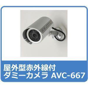 ダミー防犯カメラ ダミーカメラ 屋外型 AVC-667|hdc