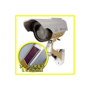ダミーカメラ 家庭用 防犯カメラ ソーラー発電ダミーカメラ ITD-06SOL 屋外用|hdc