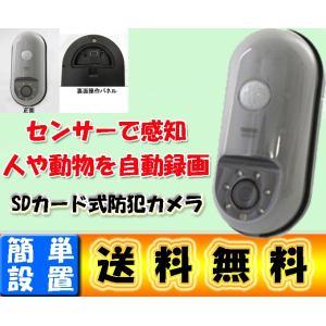 送料無料 どこでも簡単設置 乾電池式 センサー防犯カメラ m...