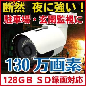 防犯カメラ SDカード録画 暗視  屋外 バレット 防犯カメラ CK-700SD|hdc